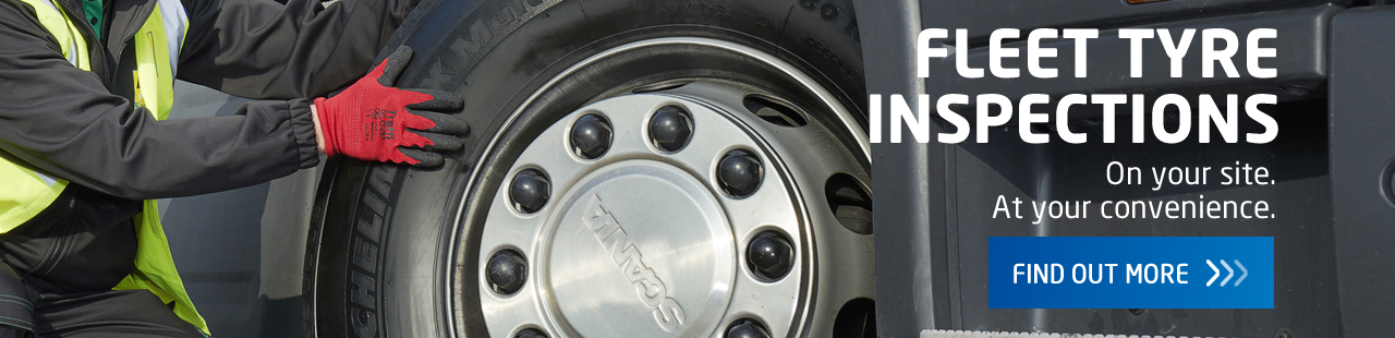 Find out about our industry leading Fleet tyre inspection service.