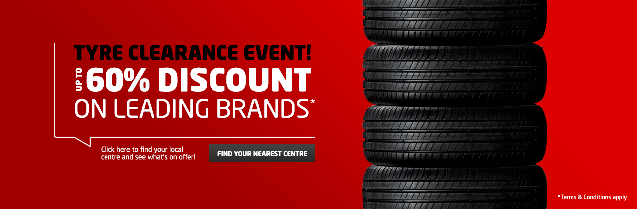 tyre clearance event banner