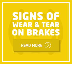 Signs of wear and tear on brakes